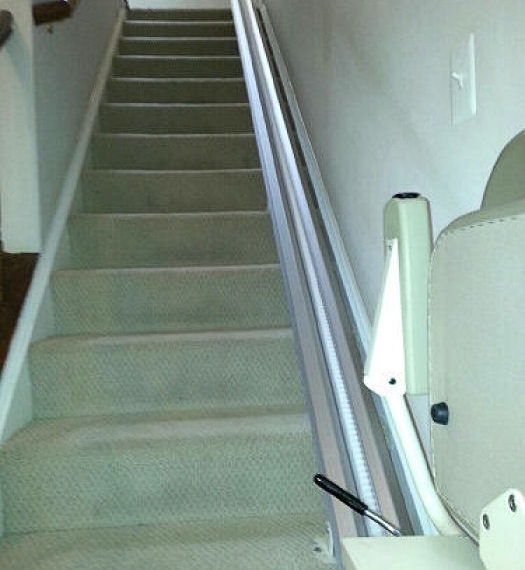 Stair lift track