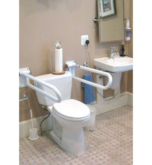 Toilet with Rails
