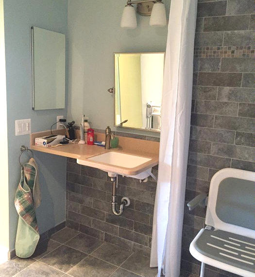 Accessible Sink and Vanity Area