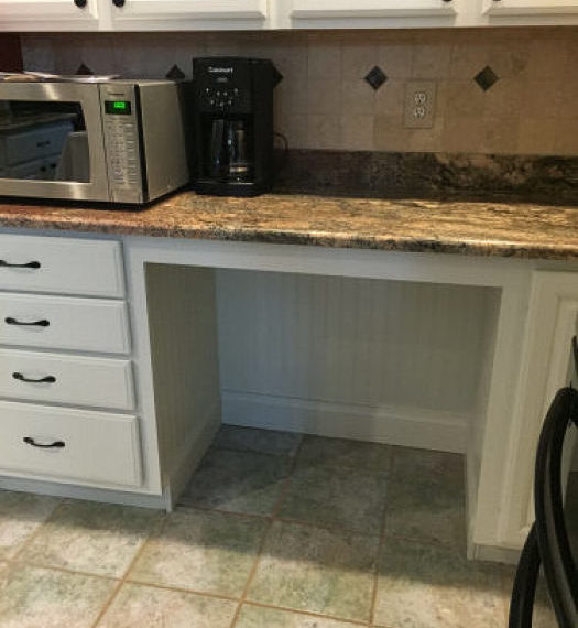 Roll-under counter tops