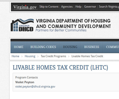 Livable Home Tax Credit