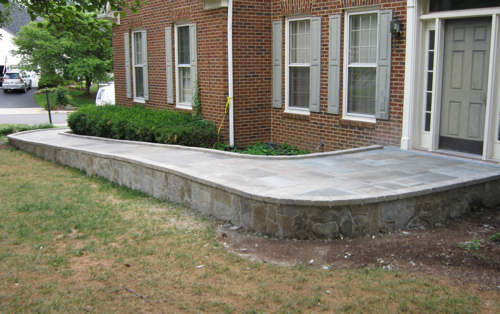 View of new wheelchair ramp