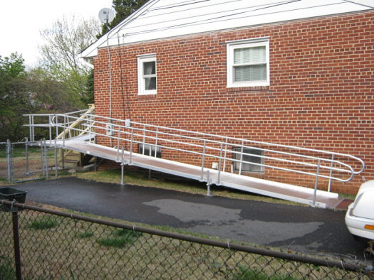 Side view of outdoor ramp